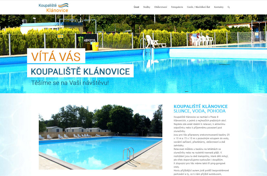 Koupaliště Klánovice - Silic Média Creative
