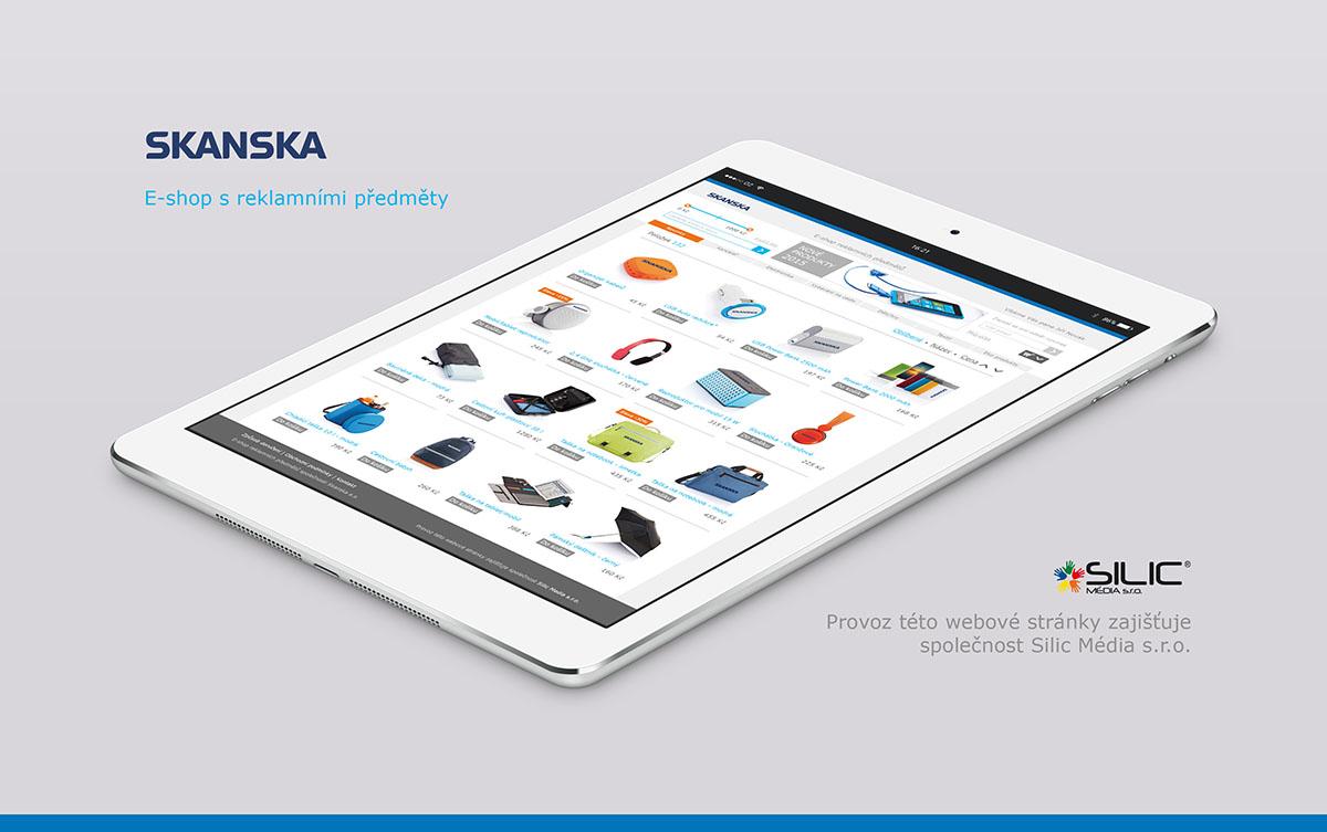 Silic Média Creative - e-shop Skanska