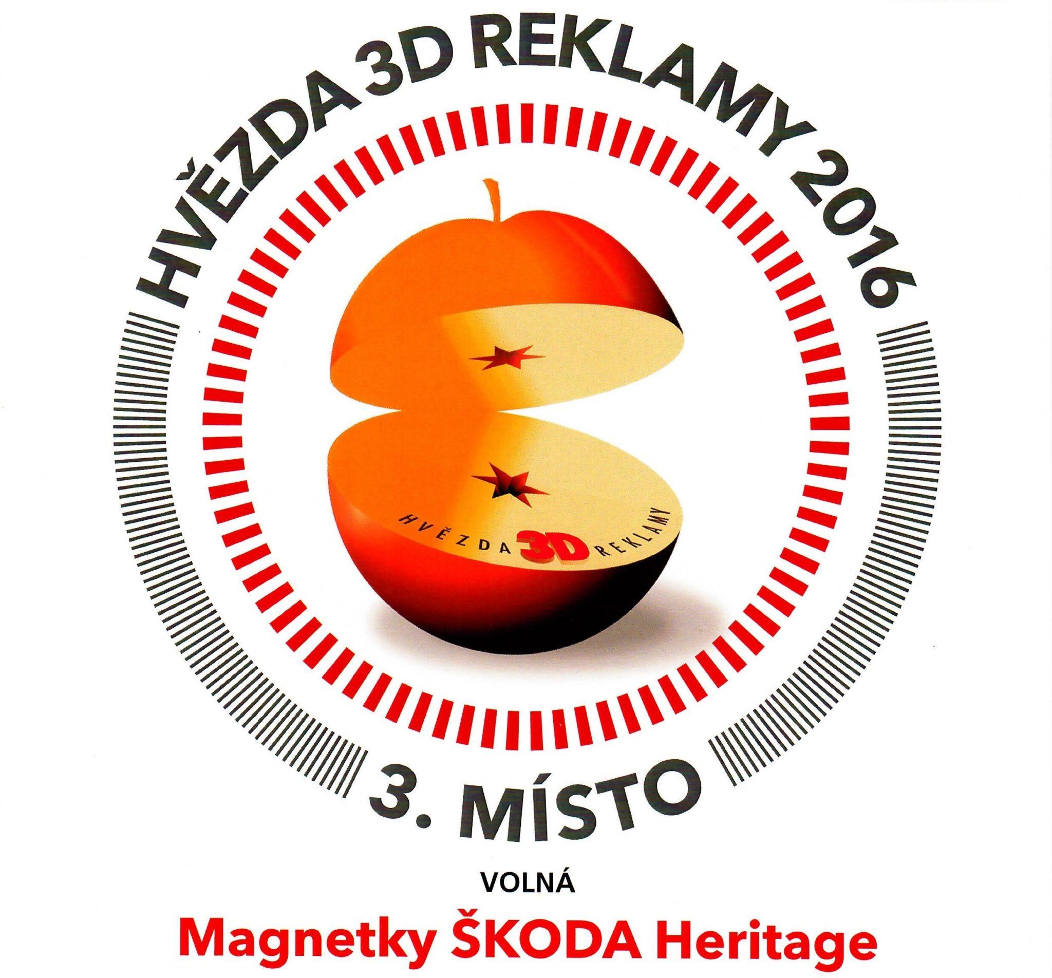 Ocenění pro Silic Média – Hvězda 3D reklamy – 3. místo